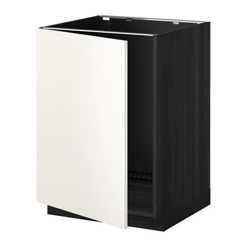 metod lt bas vier effet bois noir veddinge blanc ikea. Black Bedroom Furniture Sets. Home Design Ideas