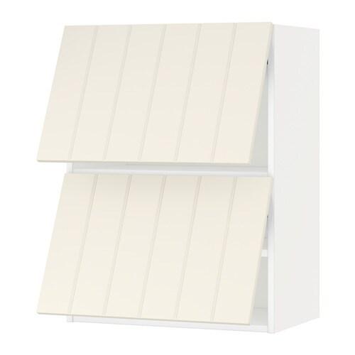 Metod Lt Mur Horiz 2ptes Blanc Hittarp Blanc Cass 60x80 Cm Ikea