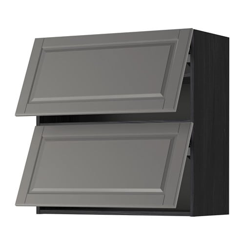 metod lt mur horiz 2ptes effet bois noir bodbyn gris 80x80 cm ikea. Black Bedroom Furniture Sets. Home Design Ideas