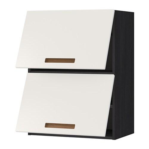 metod lt mur horiz 2ptes effet bois noir m rsta blanc 60x80 cm ikea. Black Bedroom Furniture Sets. Home Design Ideas