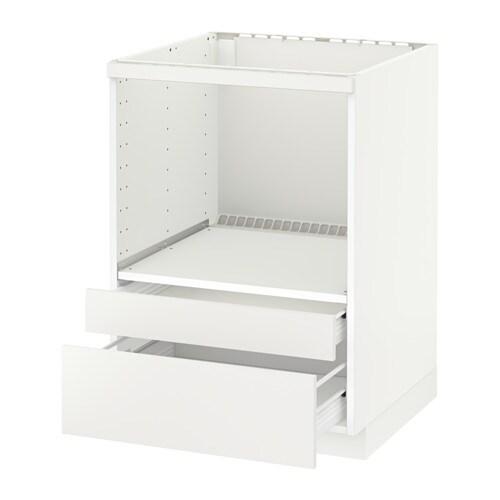 Metod f rvara meuble pour micro combi tiroirs blanc for Meuble 60x60