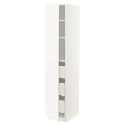METOD / FÖRVARA Élément armoire avec tiroirs, blanc/Veddinge blanc, 40x60x200 cm