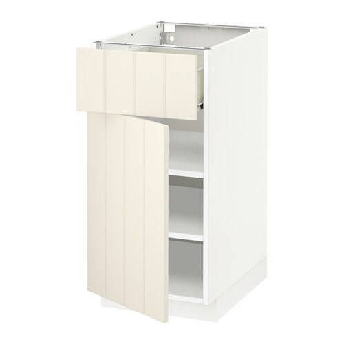 metod f rvara l ment bas avec tiroir porte blanc hittarp blanc cass 40x60 cm ikea. Black Bedroom Furniture Sets. Home Design Ideas