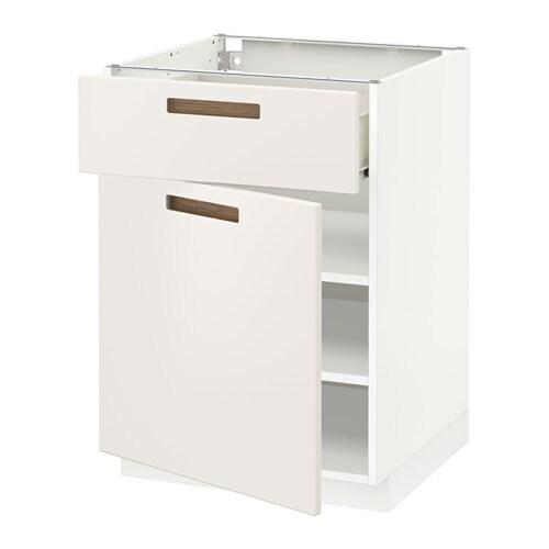 metod f rvara l ment bas avec tiroir porte blanc m rsta blanc 60x60 cm ikea. Black Bedroom Furniture Sets. Home Design Ideas