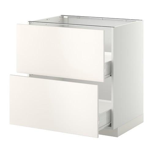 metod f rvara l ment bas 2faces 2tiroirs moyens blanc veddinge blanc 80x60 cm ikea. Black Bedroom Furniture Sets. Home Design Ideas
