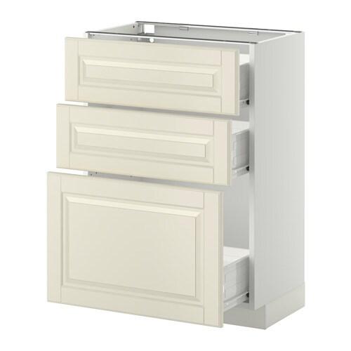 Metod F Rvara L Ment Bas 3 Tiroirs Blanc Bodbyn Blanc Cass 60x37 Cm Ikea