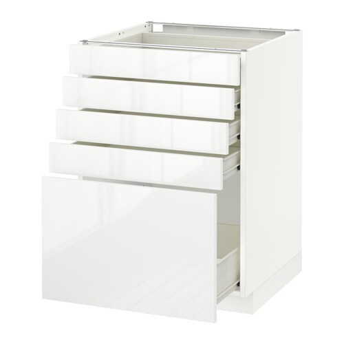 Metod f rvara l ment bas 5 tiroirs blanc ringhult - Element bas cuisine ikea ...