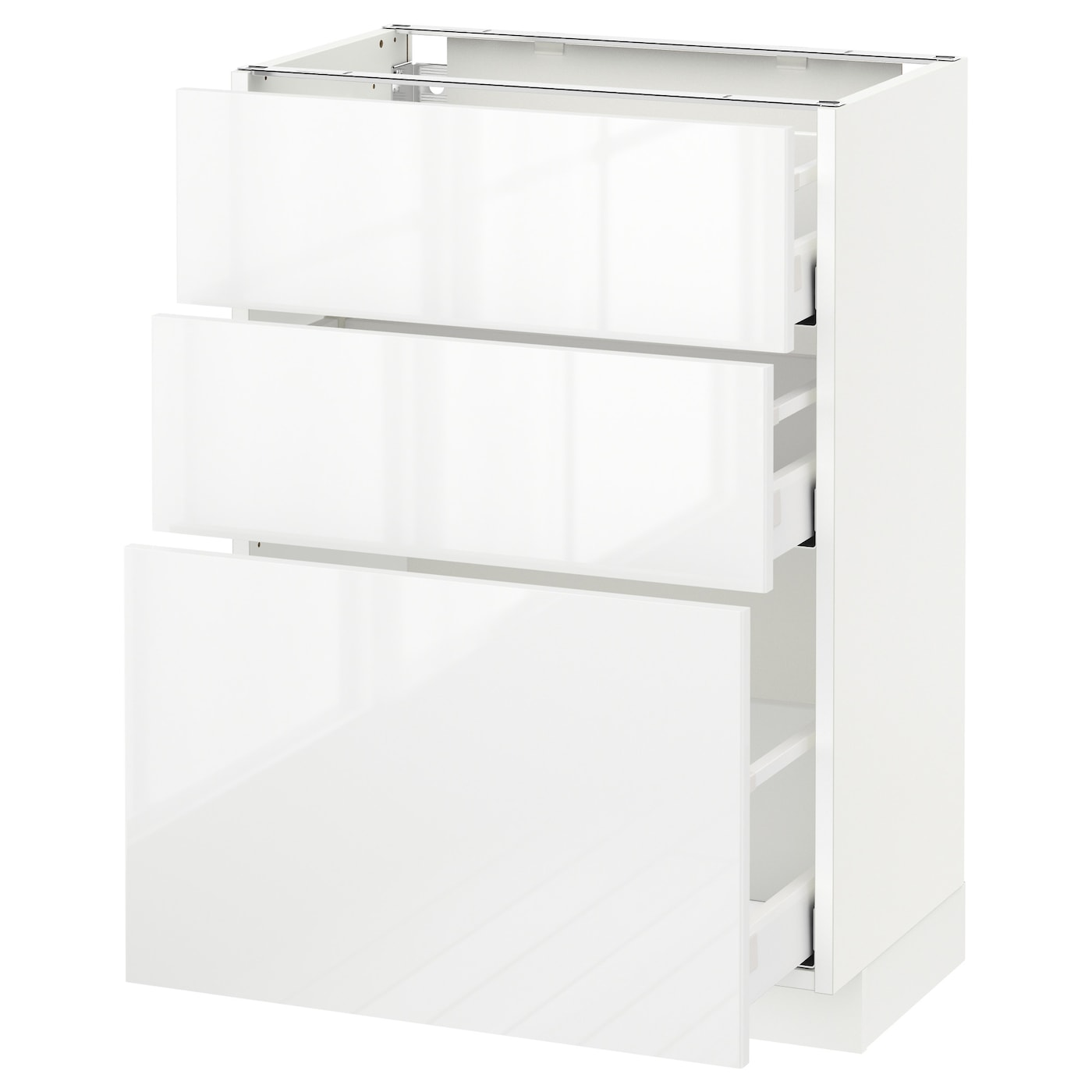metod maximera l ment bas 3 tiroirs blanc ringhult blanc 60x37 cm ikea. Black Bedroom Furniture Sets. Home Design Ideas