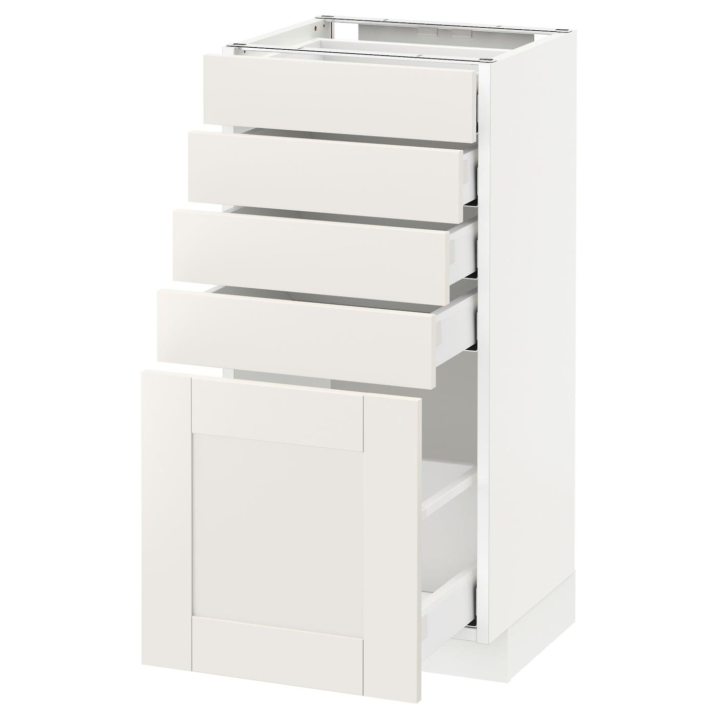 metod maximera l ment bas 5 tiroirs blanc s vedal blanc 40x37 cm ikea. Black Bedroom Furniture Sets. Home Design Ideas