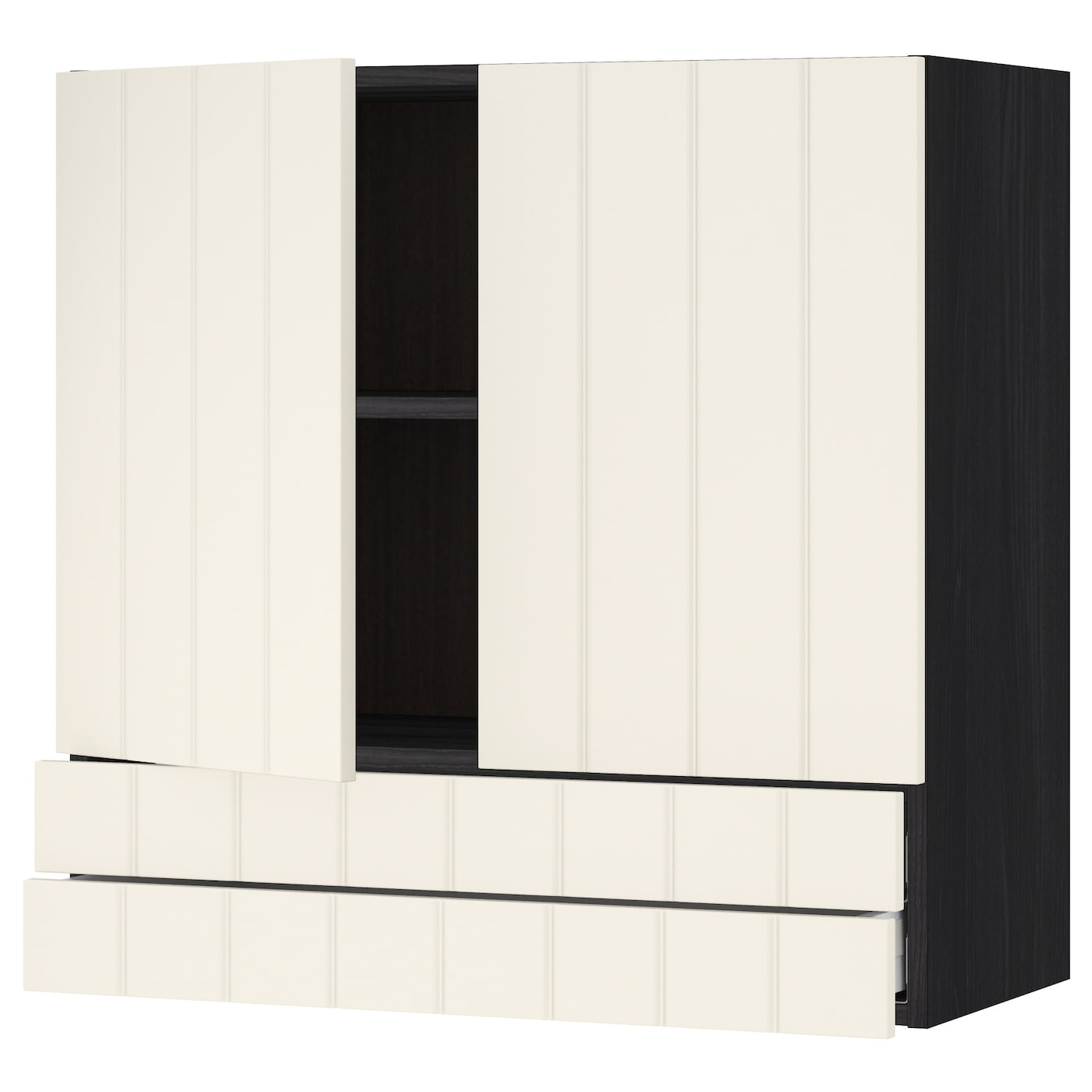 metod maximera l ment mural 2portes 2tiroirs noir hittarp blanc cass 80x80 cm ikea. Black Bedroom Furniture Sets. Home Design Ideas