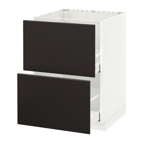 metod maximera lt bas pr vier 2faces 2tiroirs blanc kungsbacka anthracite 60x60 cm ikea. Black Bedroom Furniture Sets. Home Design Ideas