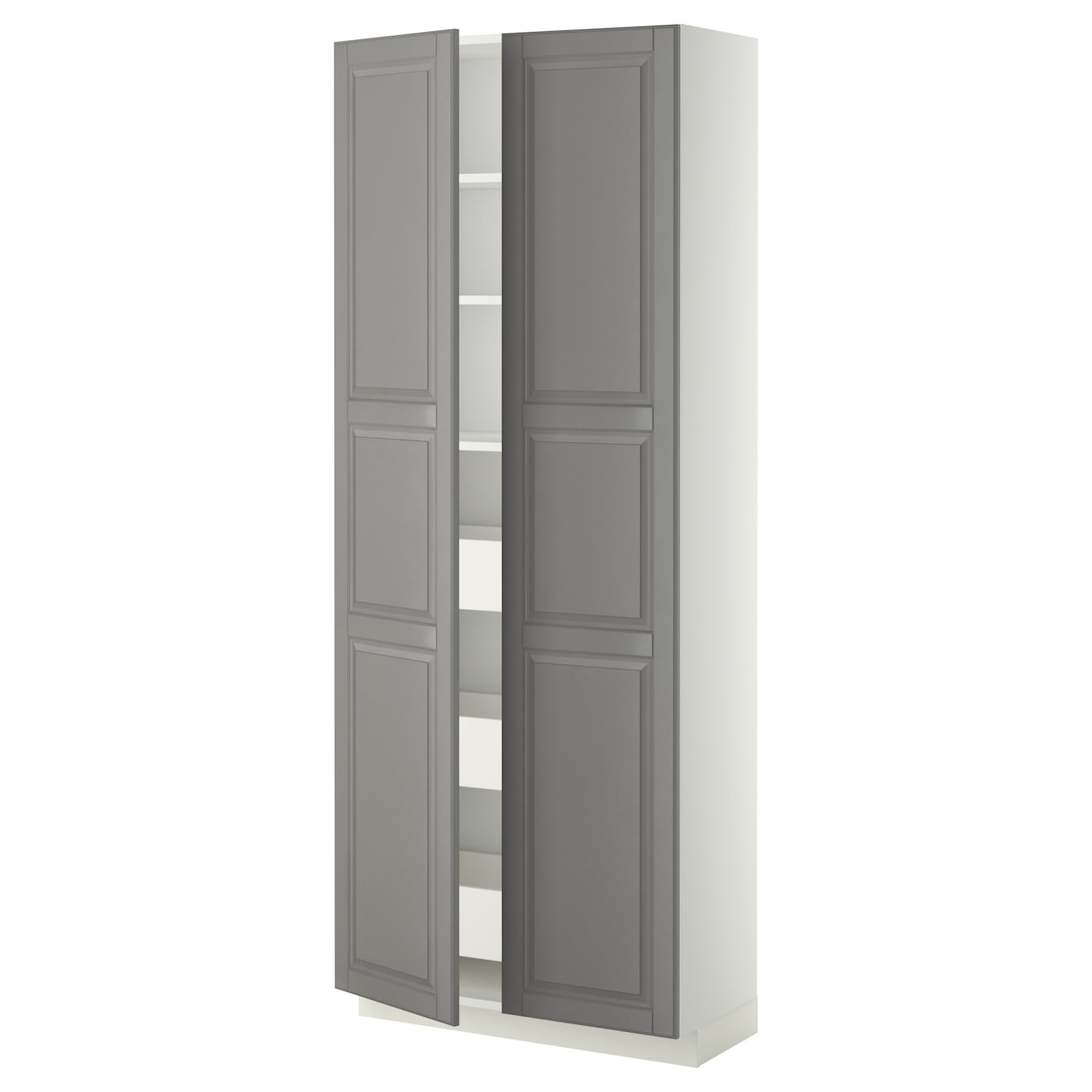 metod maximera lt haut tiroirs 2portes blanc bodbyn gris 80x37x200 cm ikea. Black Bedroom Furniture Sets. Home Design Ideas