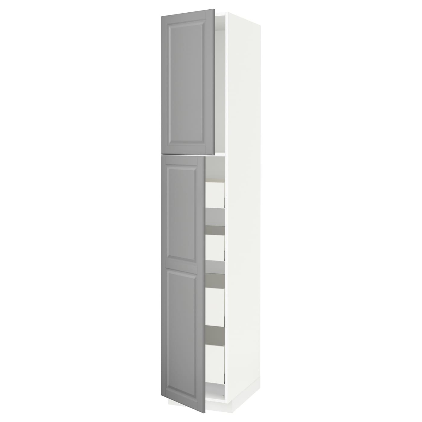 metod maximera armoire 2 portes 4 tiroirs blanc bodbyn gris 40x60x220 cm ikea. Black Bedroom Furniture Sets. Home Design Ideas