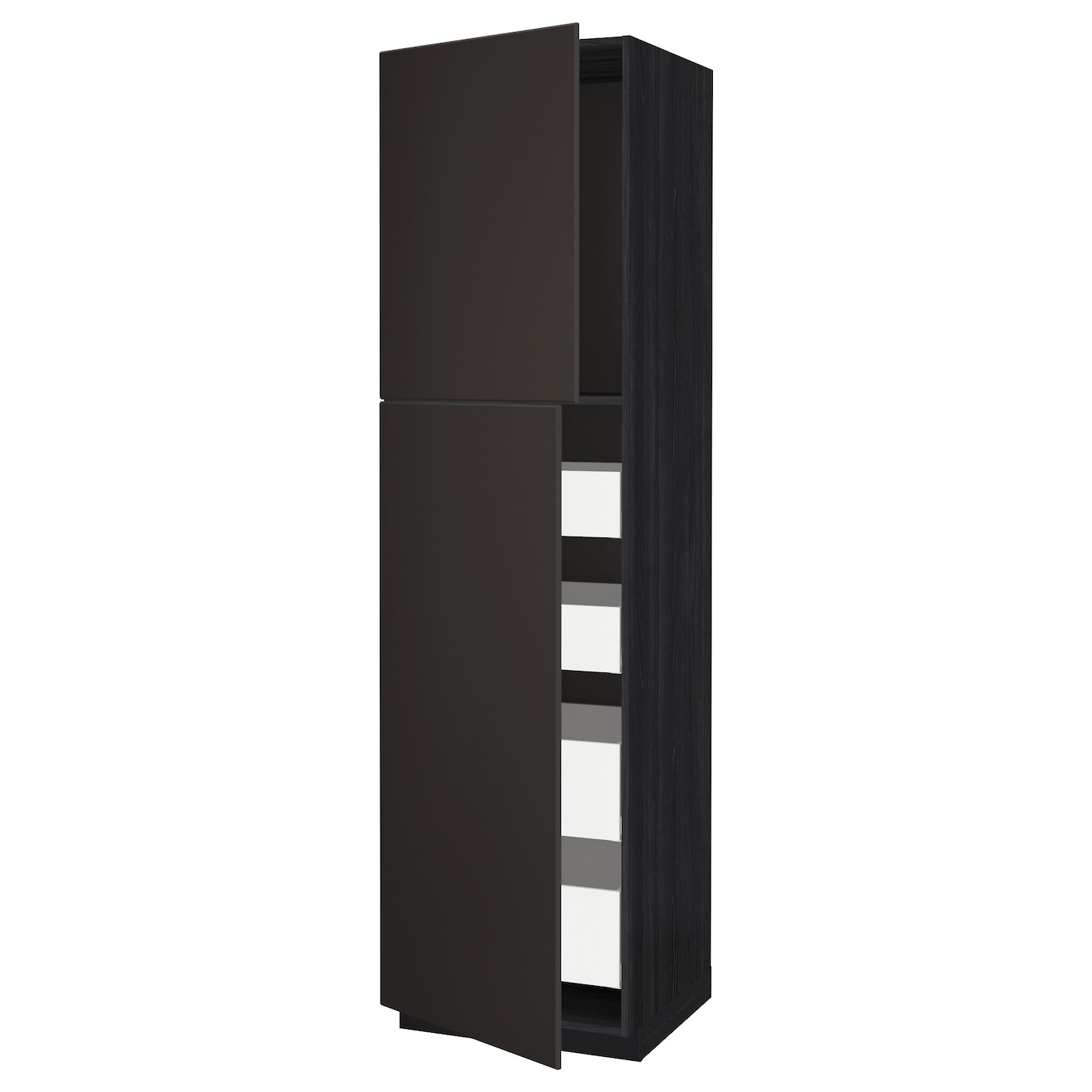 metod maximera armoire 2 portes 4 tiroirs noir kungsbacka. Black Bedroom Furniture Sets. Home Design Ideas