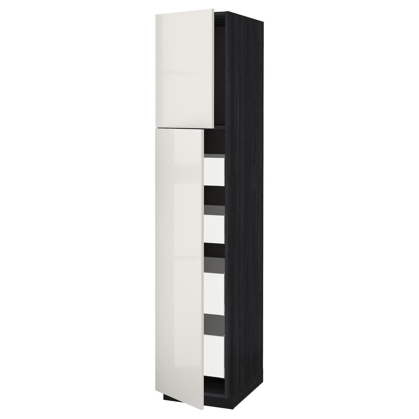 metod maximera armoire 2 portes 4 tiroirs noir ringhult gris clair 40x60x200 cm ikea. Black Bedroom Furniture Sets. Home Design Ideas