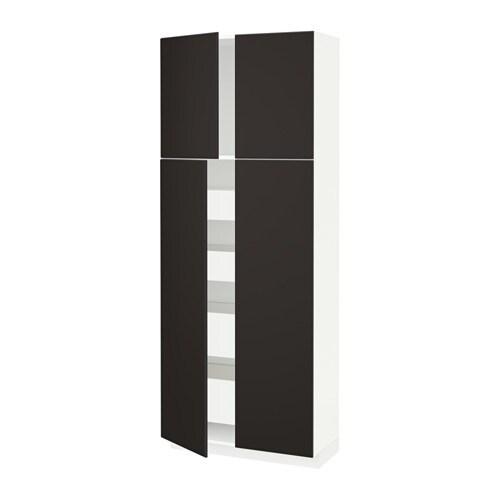 Metod maximera armoire 4 portes 4 tirois blanc kungsbacka for Nourriture chez ikea