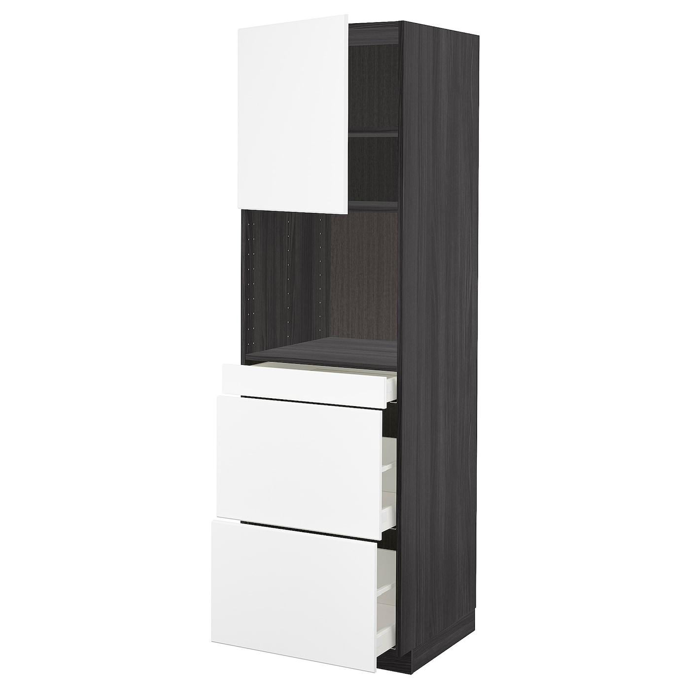 metod maximera armoire micro ondes av porte 3 tir noir. Black Bedroom Furniture Sets. Home Design Ideas