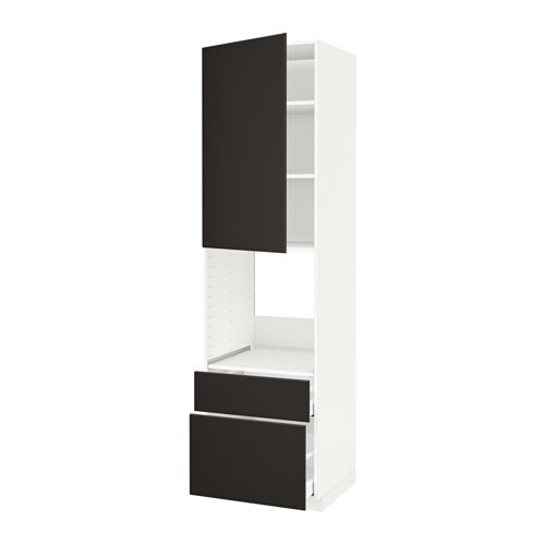 metod maximera armoire pour four porte 2 tiroirs blanc kungsbacka anthracite 60x60x220 cm. Black Bedroom Furniture Sets. Home Design Ideas