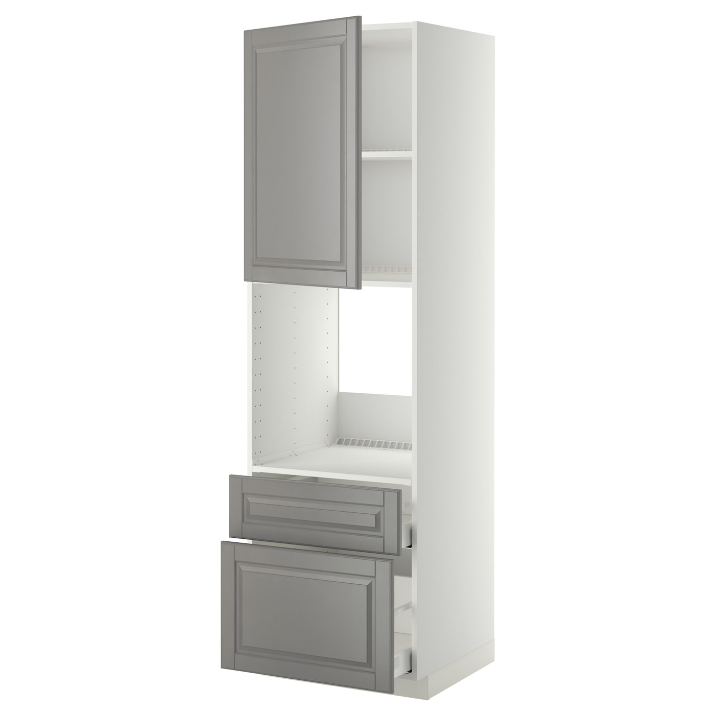 metod maximera armoire pour four porte 2 tiroirs blanc bodbyn gris 60x60x200 cm ikea. Black Bedroom Furniture Sets. Home Design Ideas