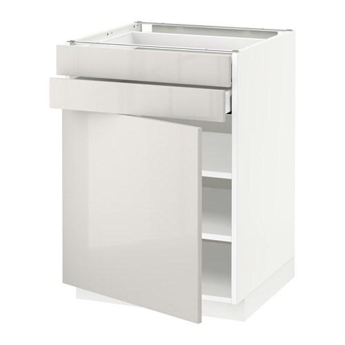 metod maximera l bas pte 2 tir blanc ringhult brillant gris clair 60x60 cm ikea. Black Bedroom Furniture Sets. Home Design Ideas