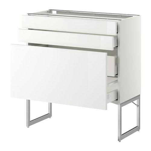 2tir bs2tir moy  blanc, Ringhult brillant blanc, 80x37x60 cm  IKEA