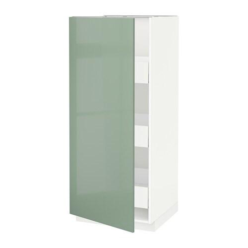 metod maximera l ment armoire avec tiroirs blanc kallarp brillant vert clair 60x60x140 cm. Black Bedroom Furniture Sets. Home Design Ideas