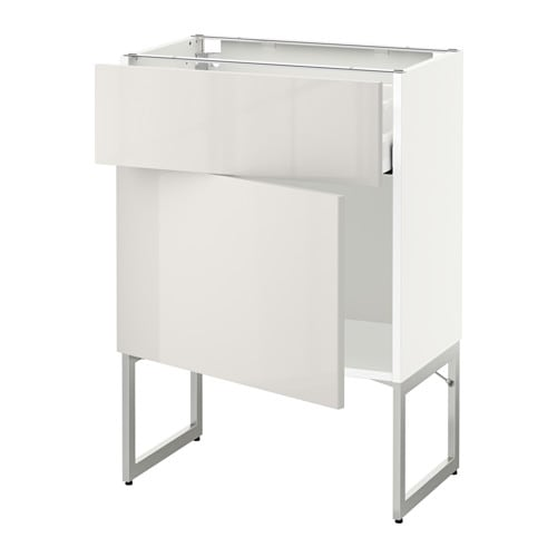 Metod maximera l ment bas avec tiroir porte blanc - Element bas cuisine ikea ...