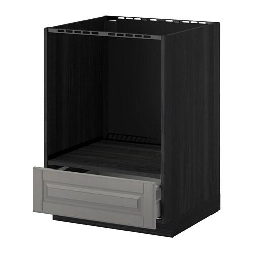 metod maximera l ment bas pour four avec tiroir effet bois noir bodbyn gris ikea. Black Bedroom Furniture Sets. Home Design Ideas