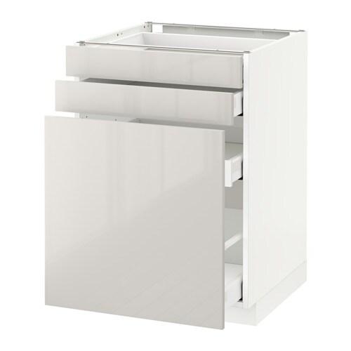 metod maximera l ment bas rgt coulissant 2faces blanc ringhult brillant gris clair 60x60. Black Bedroom Furniture Sets. Home Design Ideas