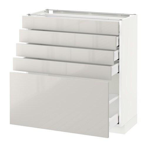 metod maximera l ment bas 5 tiroirs blanc ringhult brillant gris clair 80x37 cm ikea. Black Bedroom Furniture Sets. Home Design Ideas