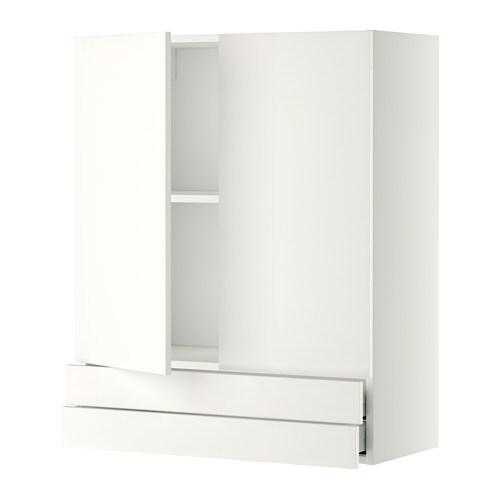 metod maximera l ment mural 2portes 2tiroirs blanc h ggeby blanc 80x100 cm ikea. Black Bedroom Furniture Sets. Home Design Ideas