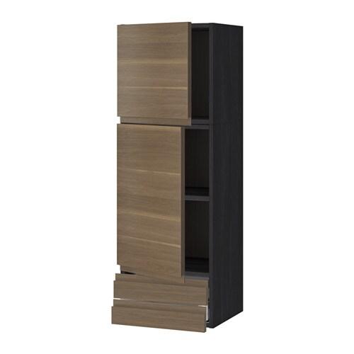 metod maximera l ment mural 2portes 2tiroirs effet bois noir voxtorp motif noyer 40x120. Black Bedroom Furniture Sets. Home Design Ideas
