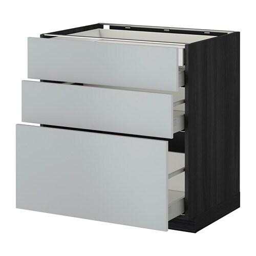 metod maximera lt bas 3faces 2tir bas 1moy 1haut effet bois noir veddinge gris 80x60 cm. Black Bedroom Furniture Sets. Home Design Ideas