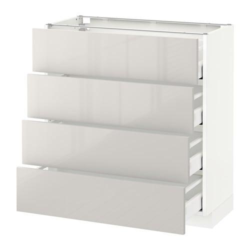 metod maximera lt bas 4 faces 4 tiroirs blanc ringhult brillant gris clair 80x37 cm ikea. Black Bedroom Furniture Sets. Home Design Ideas