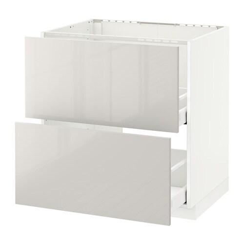 metod maximera lt bas pr vier 2faces 2tiroirs blanc ringhult brillant gris clair 80x60. Black Bedroom Furniture Sets. Home Design Ideas
