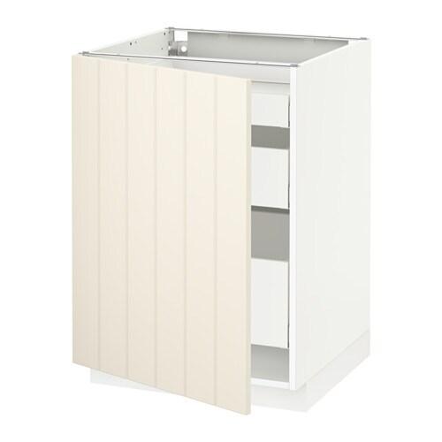 Metod Maximera Lt Bas 1 Pte 3 Tir Blanc Hittarp Blanc Cass 60x60 Cm Ikea