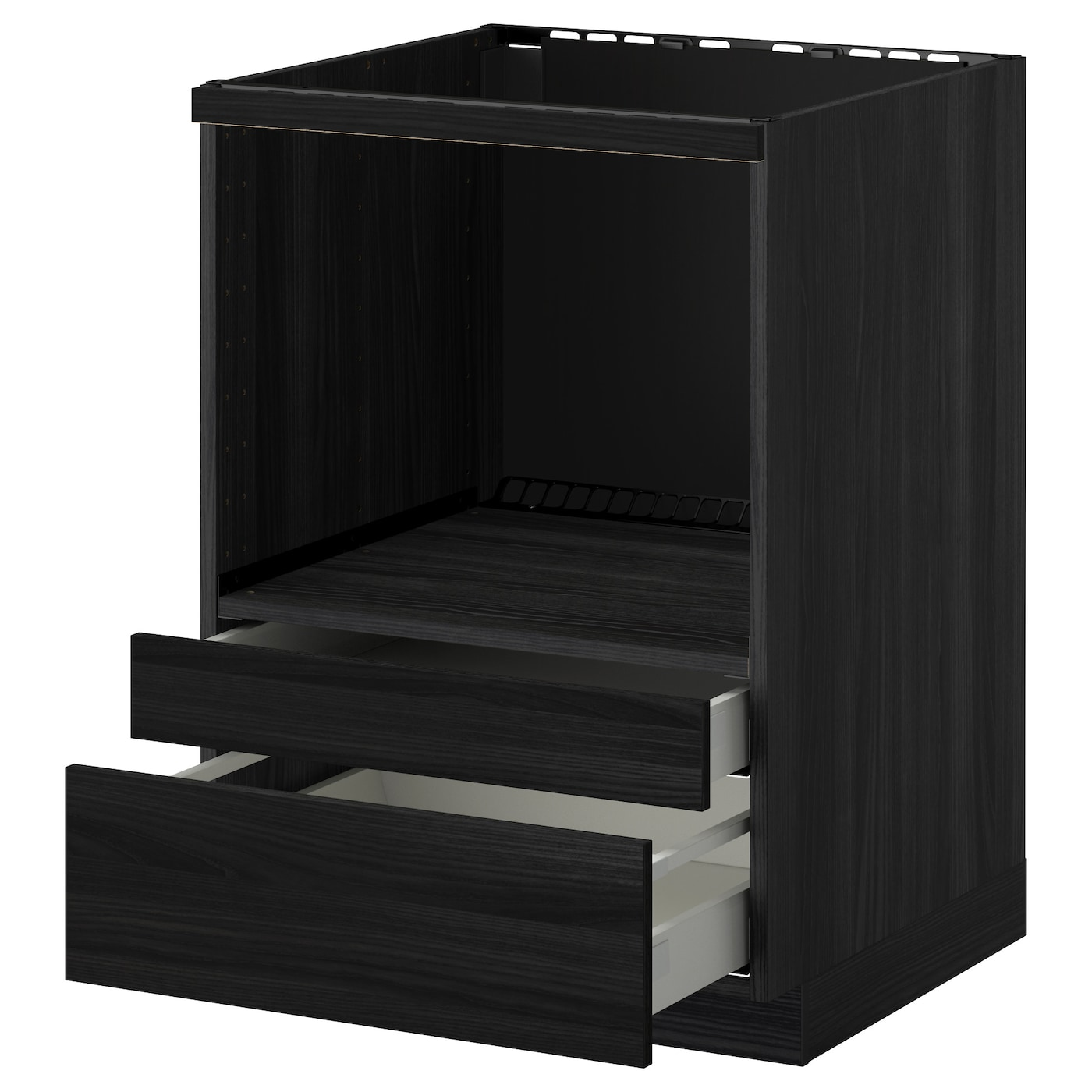 metod maximera meuble pour micro combi tiroirs noir tingsryd noir 60x60 cm ikea. Black Bedroom Furniture Sets. Home Design Ideas