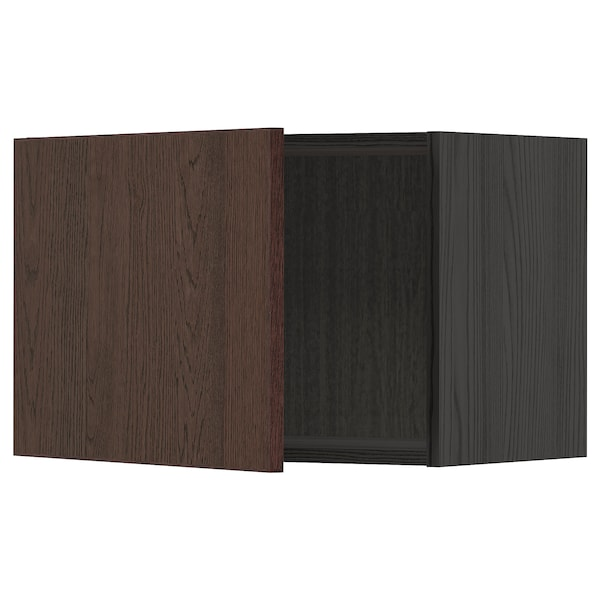 METOD Rangement mural, noir/Sinarp brun, 60x40 cm