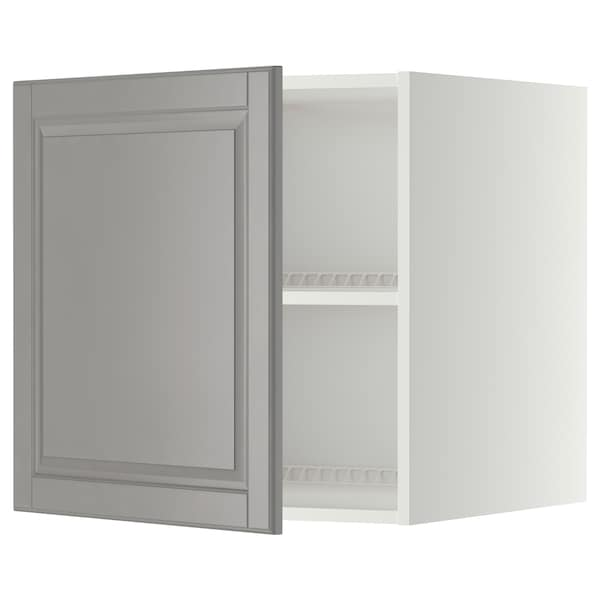 METOD Surmeuble réfr/cong, blanc/Bodbyn gris, 60x60 cm