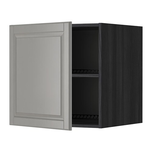 metod surmeuble r frig rateur cong lateur effet bois noir bodbyn gris 60x60 cm ikea. Black Bedroom Furniture Sets. Home Design Ideas