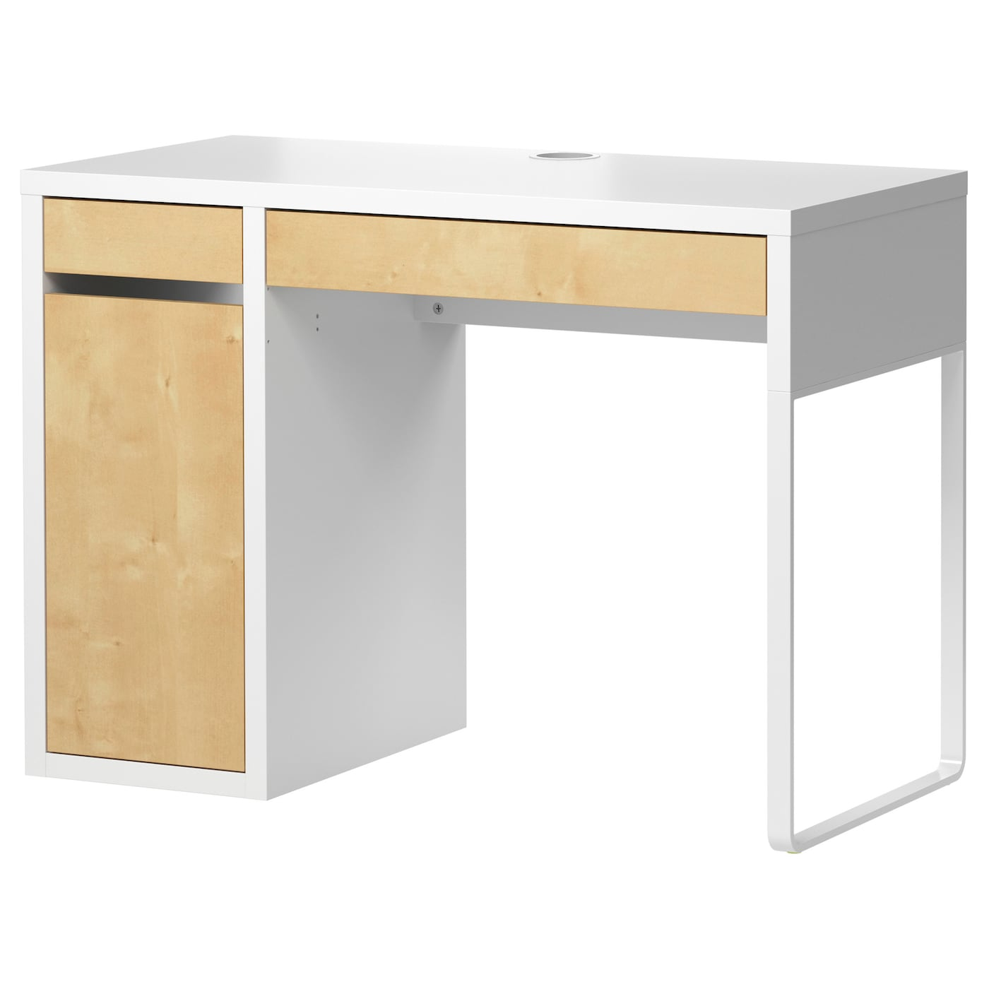 micke bureau blanc motif bouleau 105 x 50 cm ikea. Black Bedroom Furniture Sets. Home Design Ideas