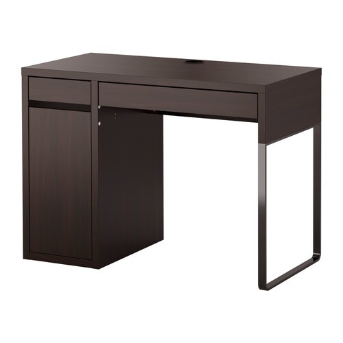 micke bureau brun noir ikea. Black Bedroom Furniture Sets. Home Design Ideas