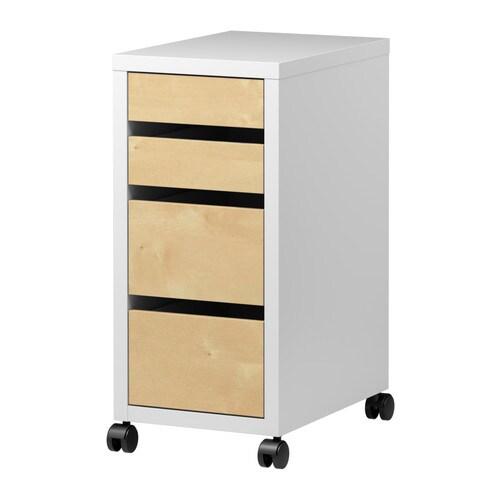 micke caisson tiroirs sur roulettes blanc motif bouleau 35x75 cm ikea. Black Bedroom Furniture Sets. Home Design Ideas