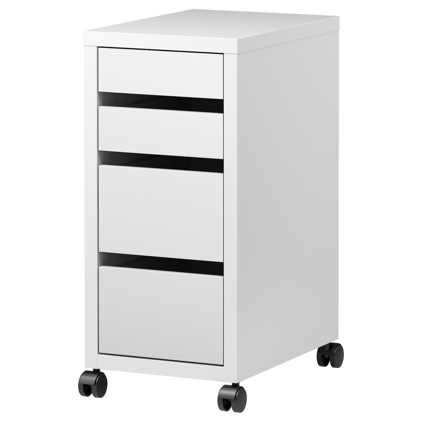 micke caisson tiroirs sur roulettes blanc 35x75 cm ikea. Black Bedroom Furniture Sets. Home Design Ideas