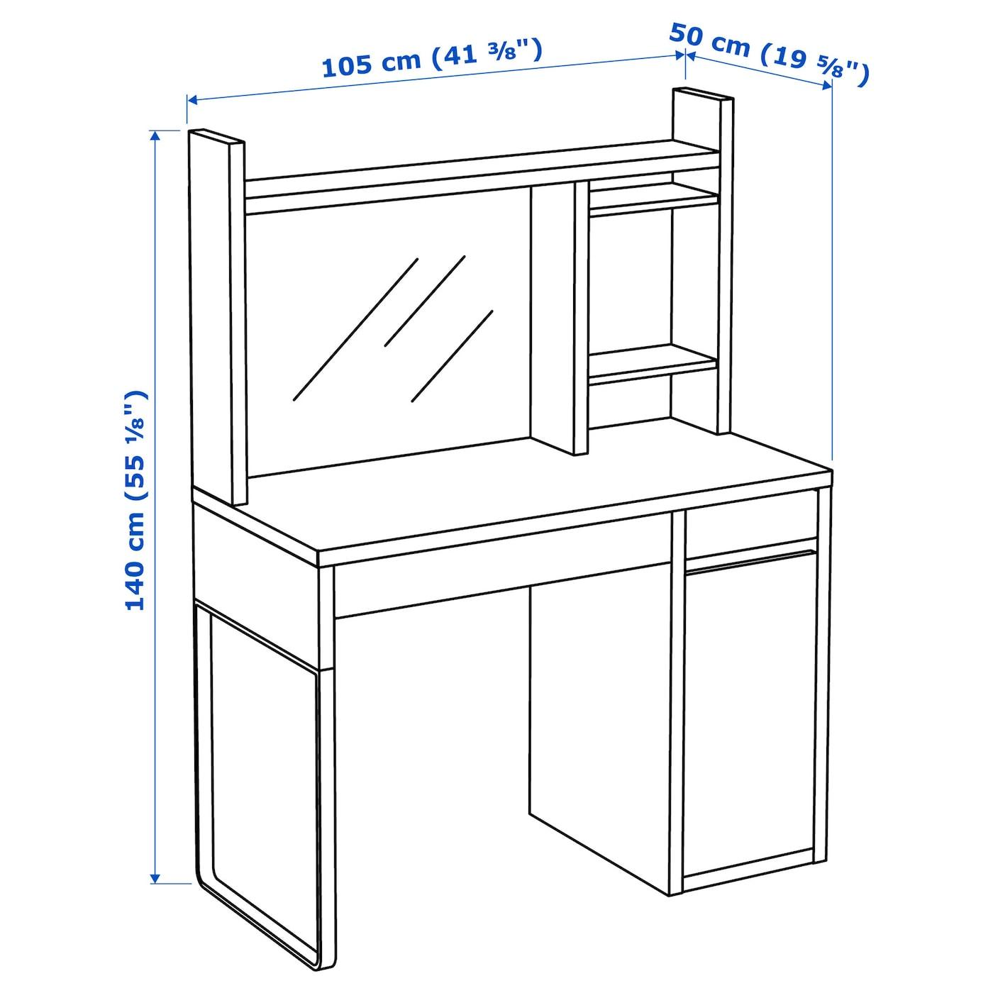 micke poste de travail blanc 105 x 50 cm ikea. Black Bedroom Furniture Sets. Home Design Ideas
