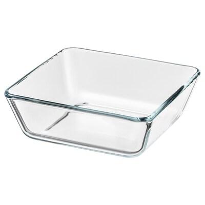 MIXTUR plat /plat à four verre transparent 15 cm 15 cm 5 cm