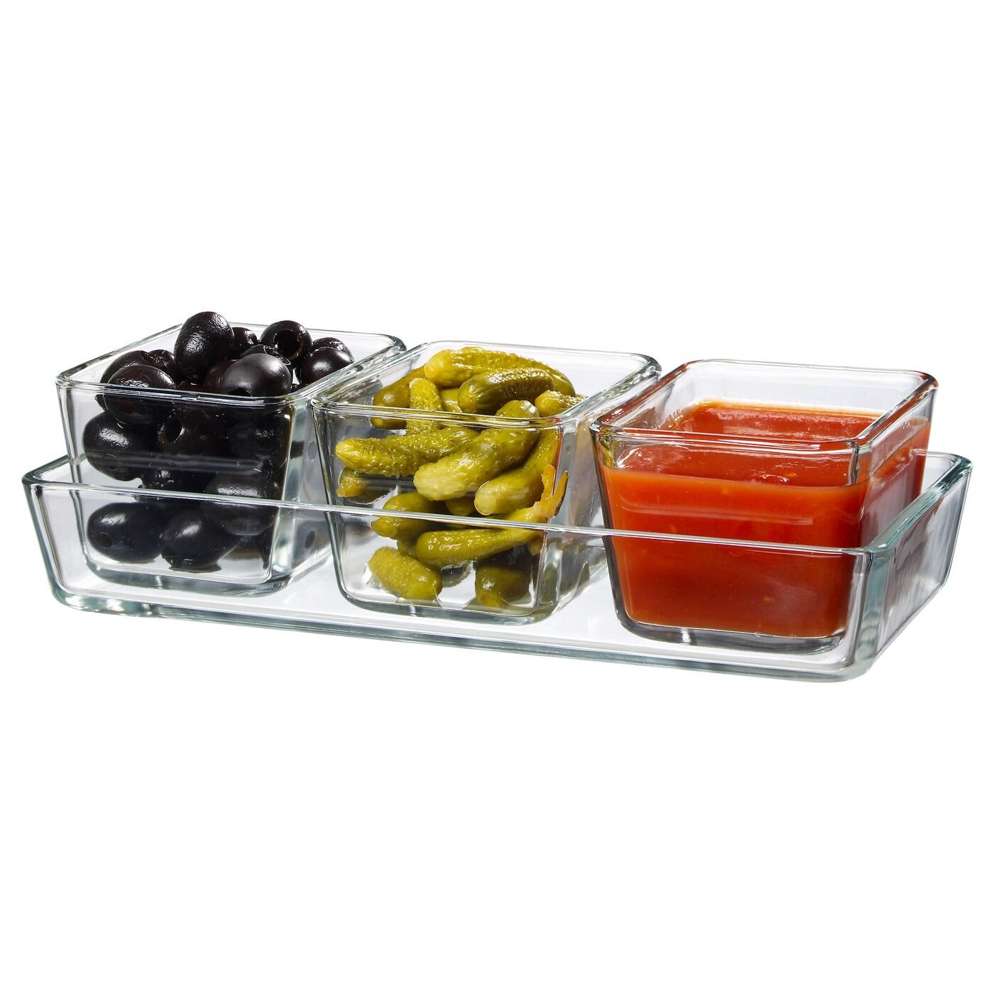mixtur ramequin plat four lot de 4 verre transparent ikea. Black Bedroom Furniture Sets. Home Design Ideas