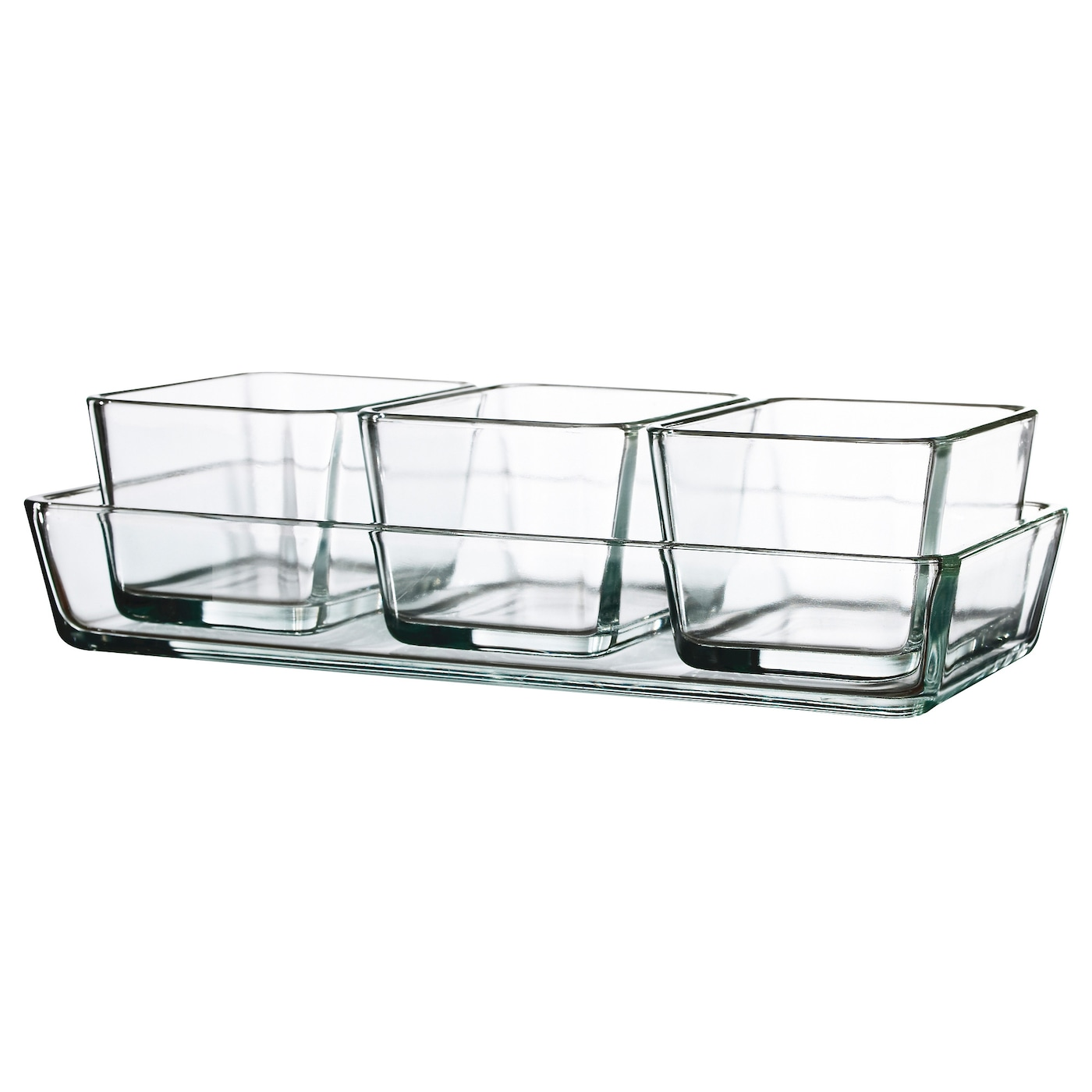 mixtur ramequin plat four lot de 4 verre transparent ikea. Black Bedroom Furniture Sets. Home Design Ideas