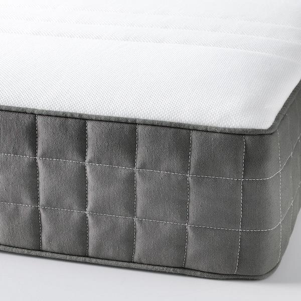 MORGEDAL Matelas latex, mi-ferme/gris foncé, 140x200 cm