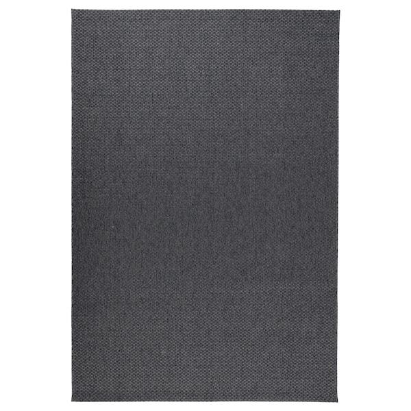 MORUM Tapis tissé à plat, int/extérieur, gris foncé, 160x230 cm